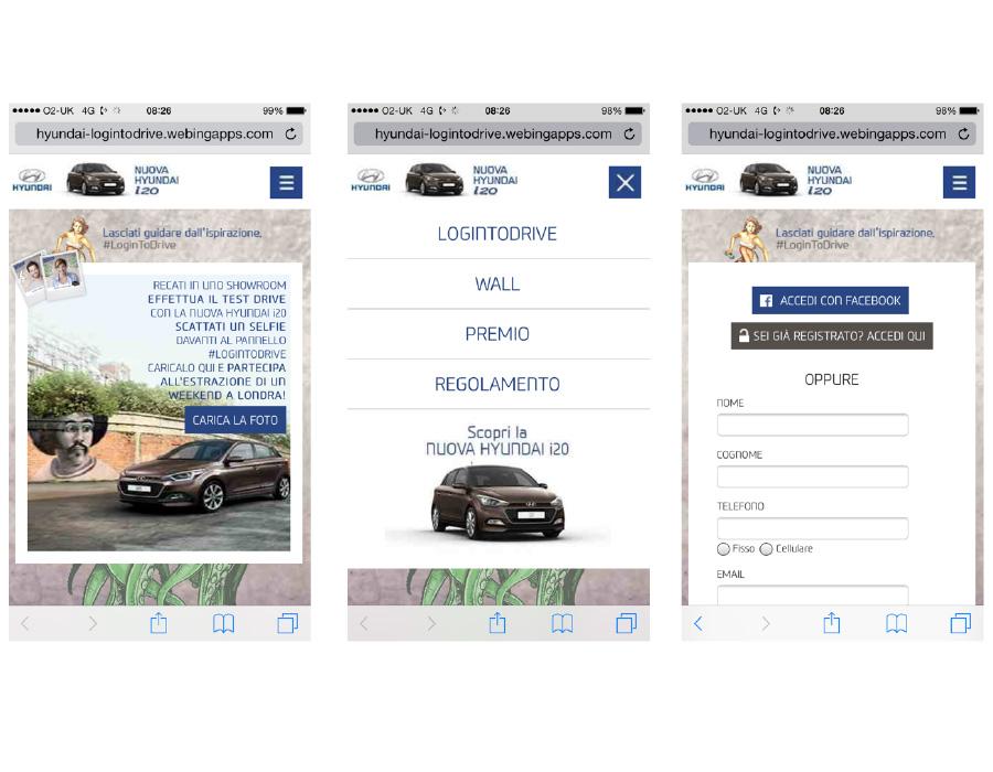 App mobile per concorso fotografico