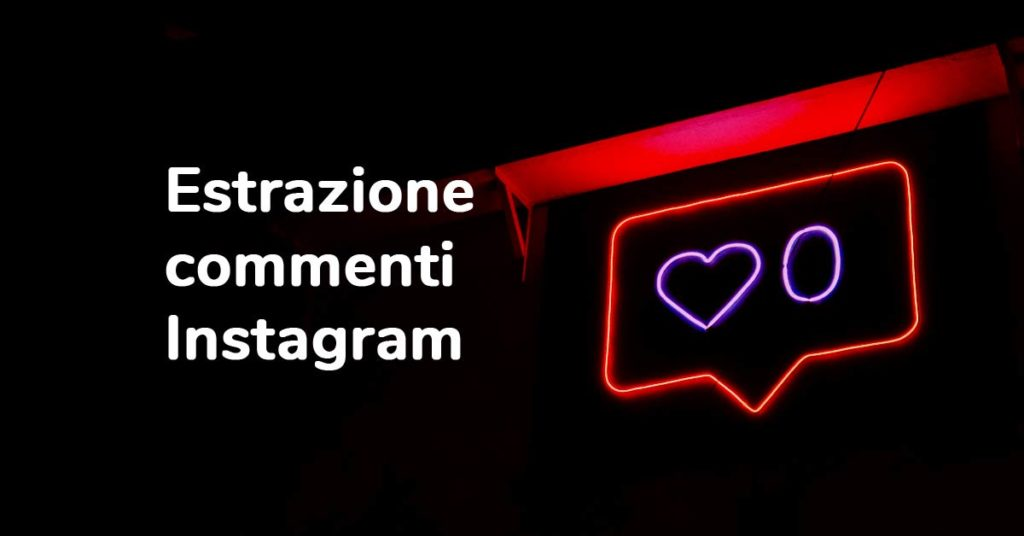 Estrazione commenti instagram