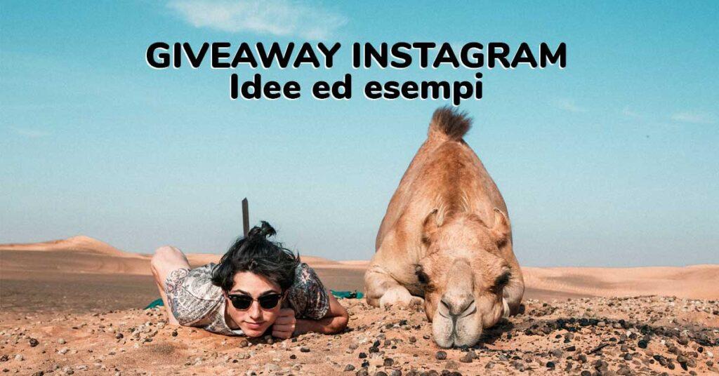 giveaway instagram idee esempi