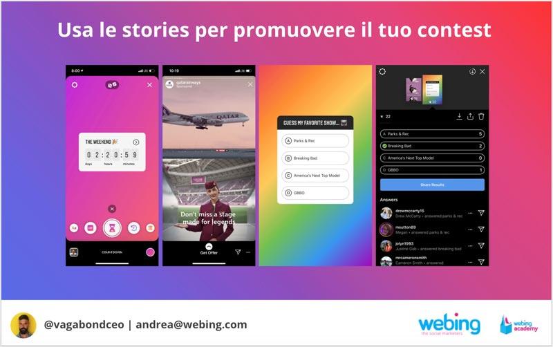 usare le instagram stories per contest e giveaway instagram