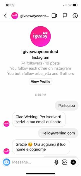 contest story instagram